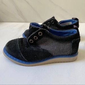 Tiny TOMS Brogue Slip on Suede Sneaker Size 7